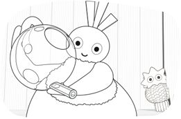 You can find lots of Twirlywoos colouring in sheets and fun games to keep your little chicks entertained on www.twirlywoos.com.
