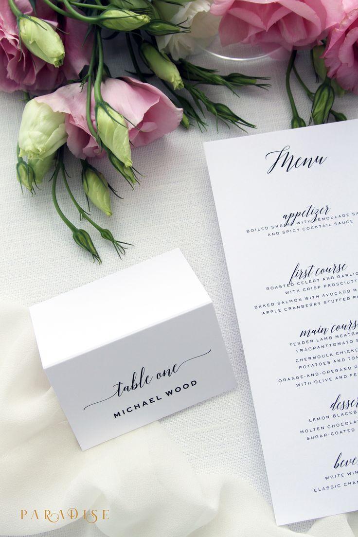 wedding table name card size%0A Abigail Modern Script Place Cards  Printable Place Cards or Printed Place  Cards  Calligraphy Place cards  Tented Cards  Wedding Table