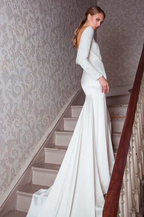 The Electra Dress from The Nina Rose Bridal 2016 Campaign. Nina Rose is a London based luxury silk wedding dress designer. Shot by Amelia Allen photography.