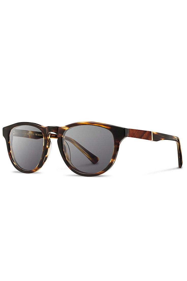 Shwood Fifty-Fifty Francis Sunglasses with Mahogany Inlay | Overland Sheepskin