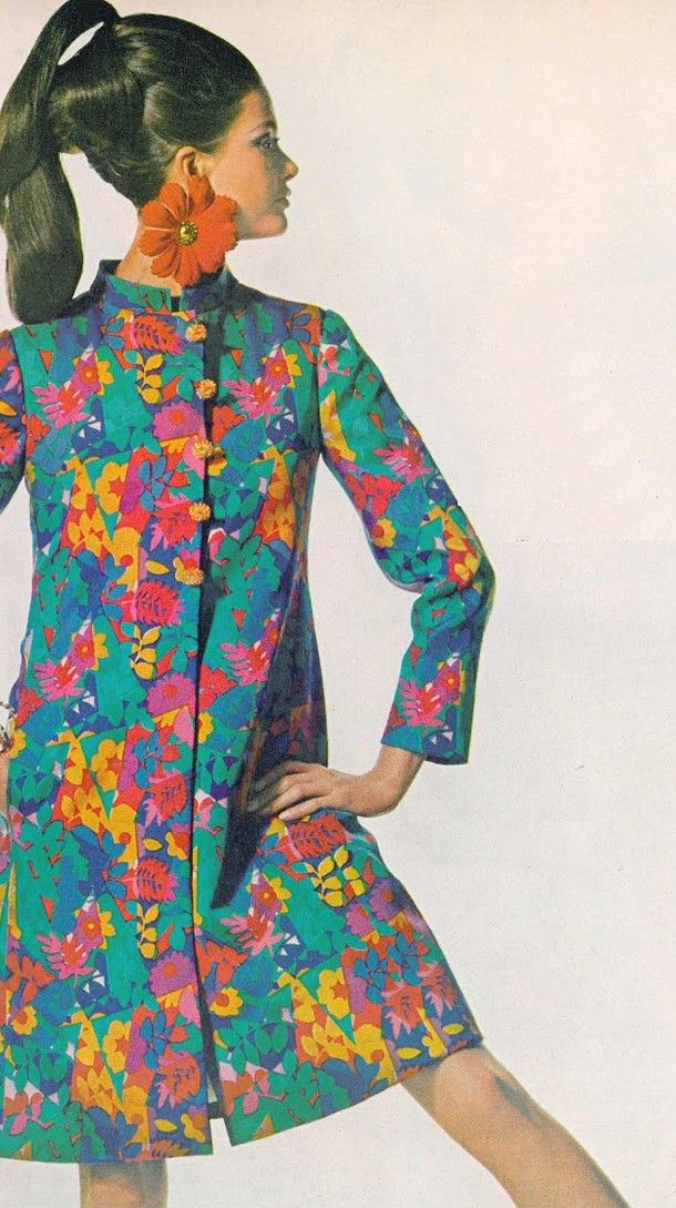 Rajah coat by Bill Blass for Maurice Rentner 1967.