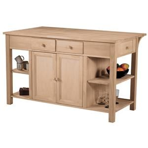 John Thomas SELECT Dining Super Kitchen Center With Breakfast Bar At Belfort Furniture Part Of The