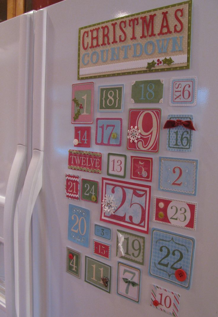 Homemade Holiday: Make your own Christmas Countdown....this is it! Looks pretty easy and it's right up my alley! Yay!,,,