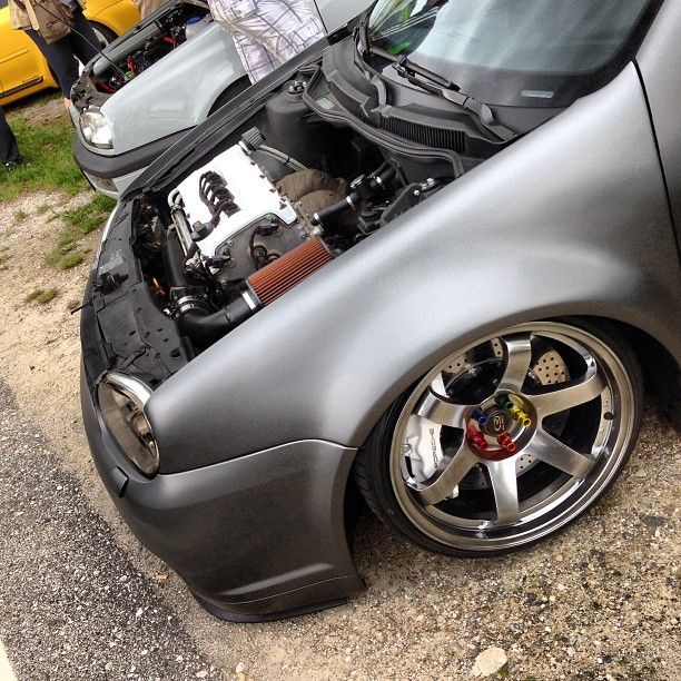 VW Jetta. Stance Grey Gunmetal Wheels