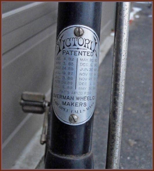 1894 Victoria Overman Wheel Company Ladies Bicycle