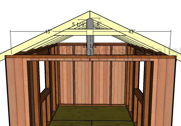 8x12 Gable Shed Roof Plans Howtospecialist How To Build Step By Step Diy Plans Shed Roof Roof Plan Shed