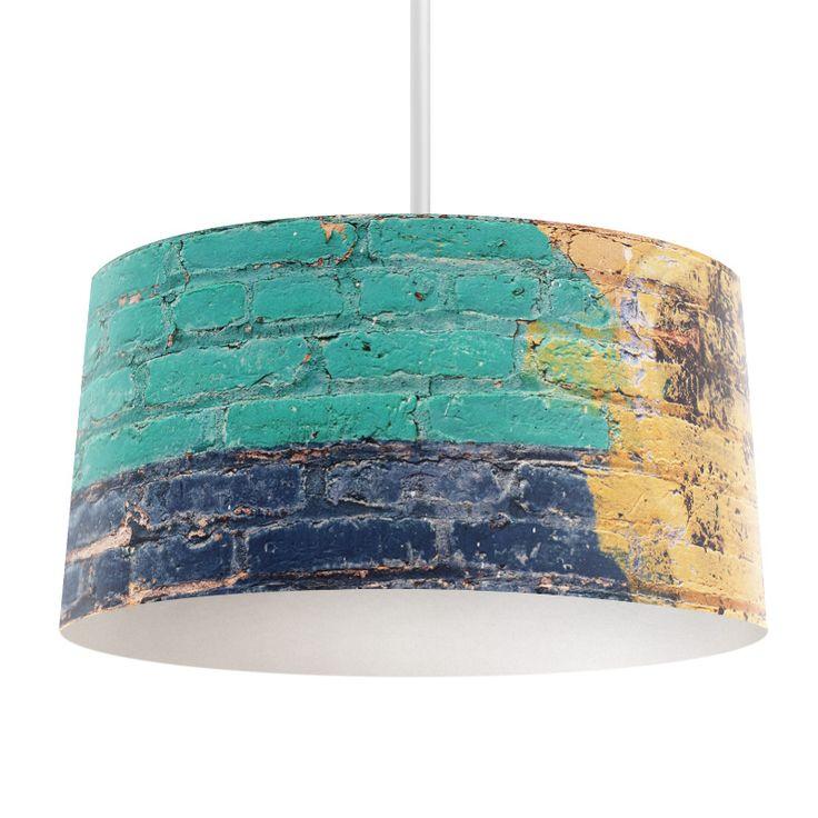 Lampenkap Gekleurde muur   Bestel lampenkappen voorzien van digitale print op hoogwaardige kunststof vandaag nog bij YouPri. Verkrijgbaar in verschillende maten en geschikt voor diverse ruimtes. Te bestellen met een eigen afbeelding of een print uit onze collectie. #lampenkap #lampenkappen #lamp #interieur #interieurdesign #woonruimte #slaapkamer #maken #pimpen #diy #modern #bekleden #design #foto #muur #stenen #steen #kleur #graffiti