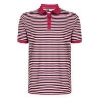 Short Sleeve Core Stripe - Granita: Contrast collar and sleeveEmbroidered contrast Callaway Tour logo on… #UKGolfEquipment #GolfAccessories