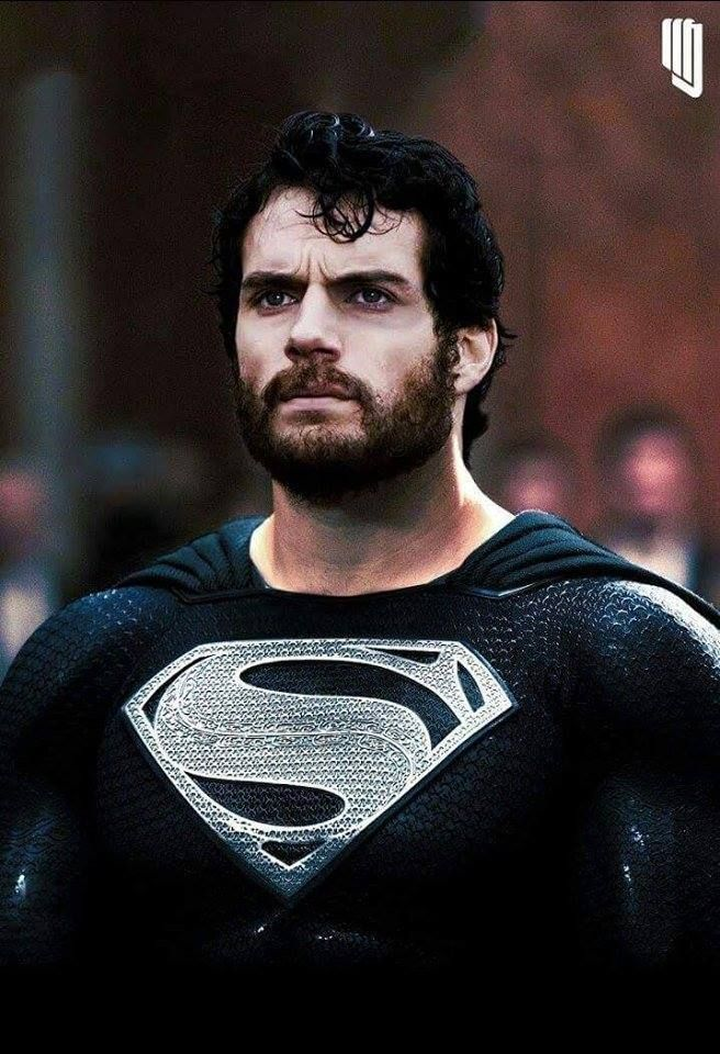 Justice League: New Image of Henry Cavill as Superman With Beard in Black Suit Costume Revealed in Fan Art