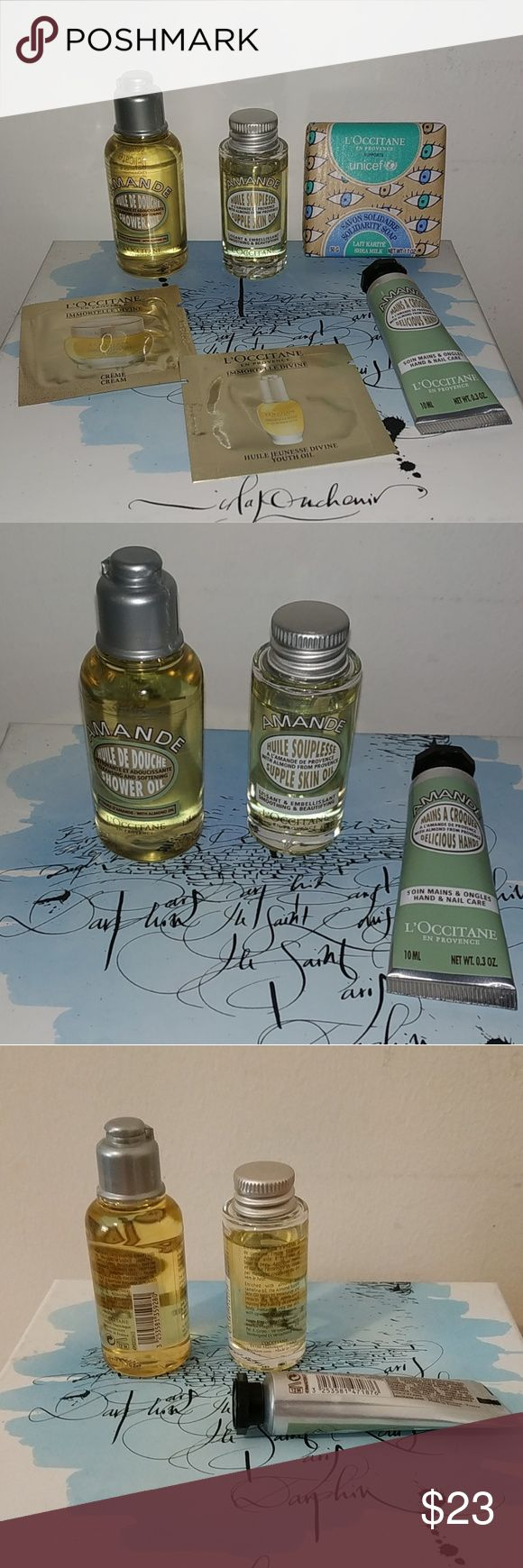 Loccitane set Shower oil, Oils for skin, Loccitane