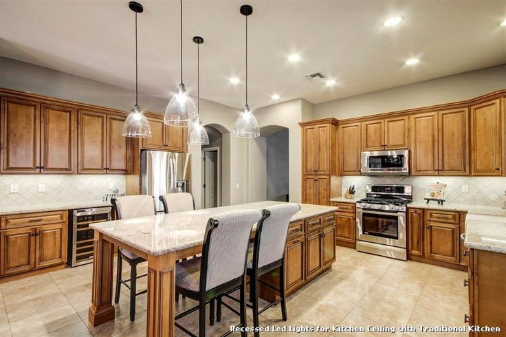 Recessed Led Lights for Kitchen Ceiling with Traditional Kitchen, kitchen lighting from Recessed Led Lights for Kitchen Ceiling