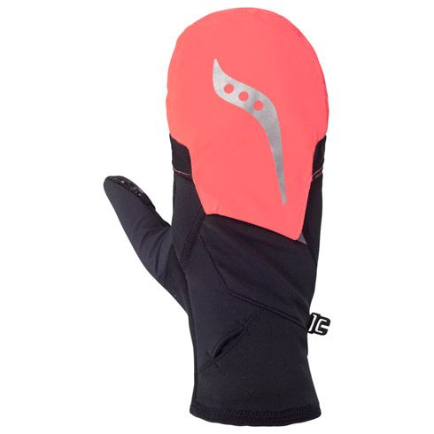 Love the hatch-back feature on these Saucony Ulti-Mitts: great for climate control.