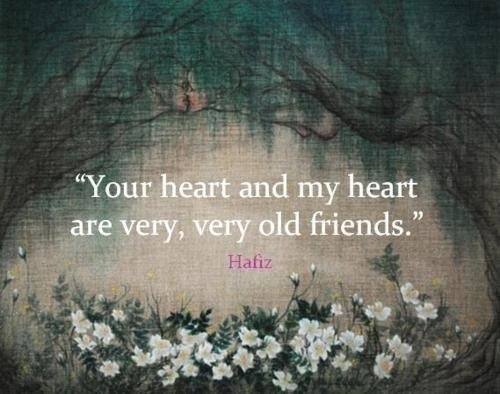 """Your heart and my heart are very very old friends."" Alice In Wonderland quote"