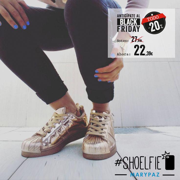 TODO 20% DTO. ¡¡ANTICÍPATE AL BLACK FRIDAY CON MARYPAZ!! Vamos a por el viernes con este #Shoelfie Sporty Chic by Patripotis  Hazte con esta DEPORTIVA COPPER aquí ►http://www.marypaz.com/trendy/deportiva-tendencia/deportiva-punta-reforzada-01901bw151206-74649.html  #SoyYoSoyMARYPAZ #Follow #winter #love #otoño #fashion #colour #tendencias #marypaz #locaporlamoda #BFF #igers #moda #zapatos #trendy #look #itgirl #invierno #AW16 #igersoftheday #girl #autumn   Disponibles en tienda y en MARYP