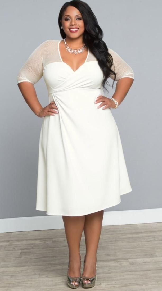 Winter White Cocktail Dress Plus Size Prom Dresses 2018