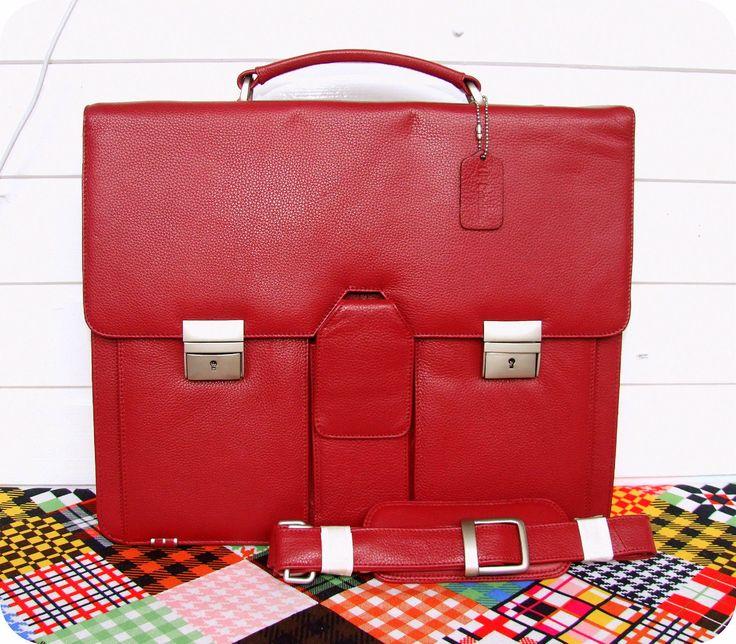 HP Collection Leder Laptop Tasche Lehrer Schultertasche Umhänge- Aktentasche Rot in Büro & Schreibwaren, Koffer, Taschen & Accessoires, Aktenkoffer & -taschen   eBay!