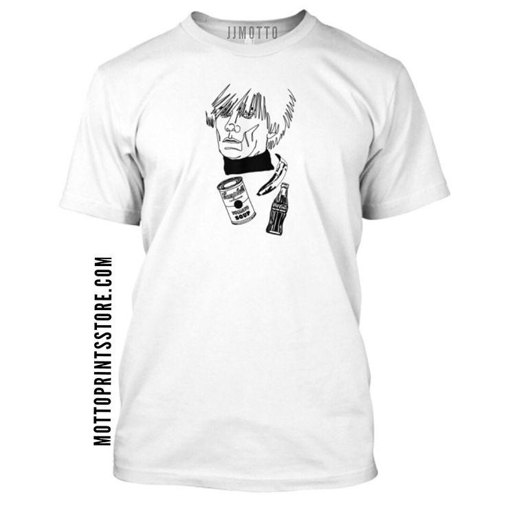 JJmotto art clothing. Andy Warhol. Mottoprintsstore.com