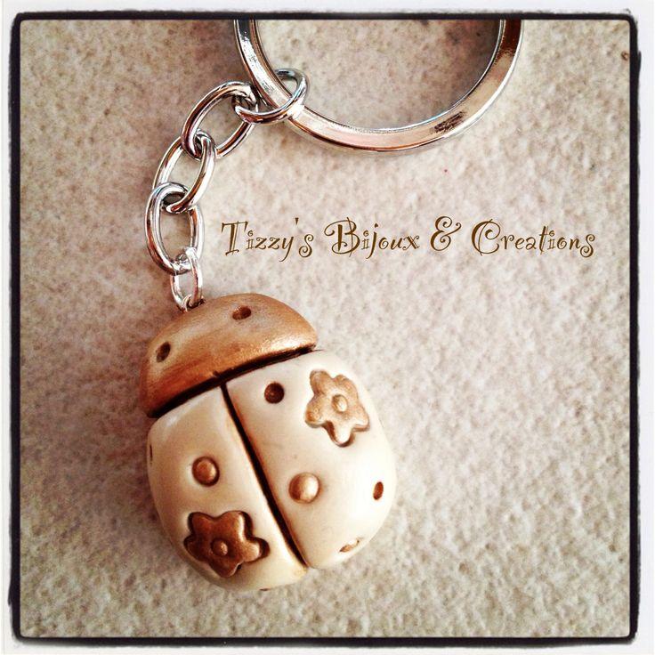 Ladybug THUN style key ring
