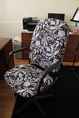 Tutorial for taking office chair from ugly to fabulous! Got to do this!