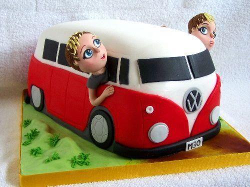 VW Bus Cake cakepins.com