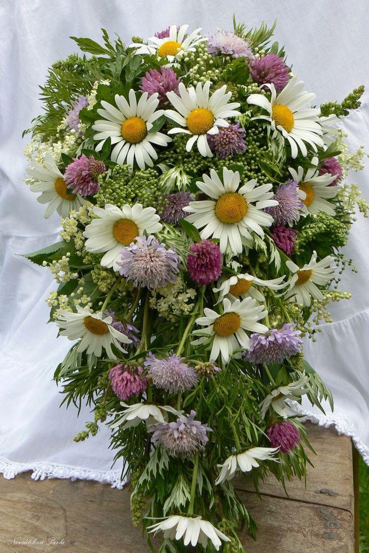 Venkovská svatební kytka