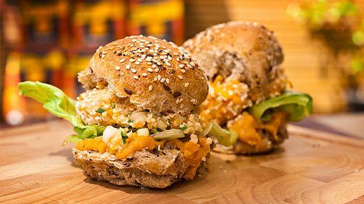 Yummy healthy burgers