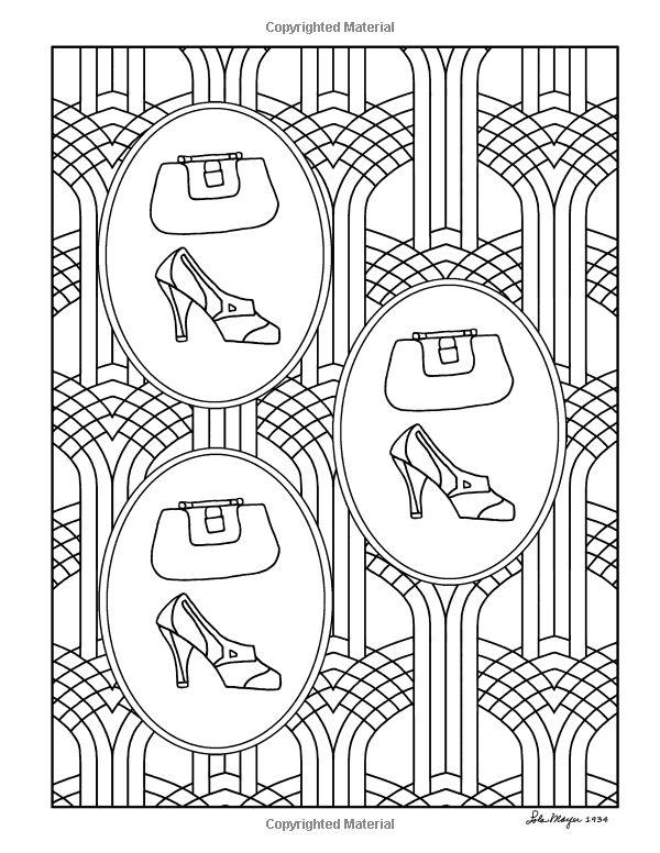 Amazon Lolas Ladies 1930s Fashions Adult Coloring Book 9781539696346