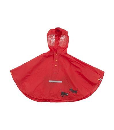 HEMA Jip & Janneke - regencape in rood.Verkrijgbaar in maten 92 t/m 128.