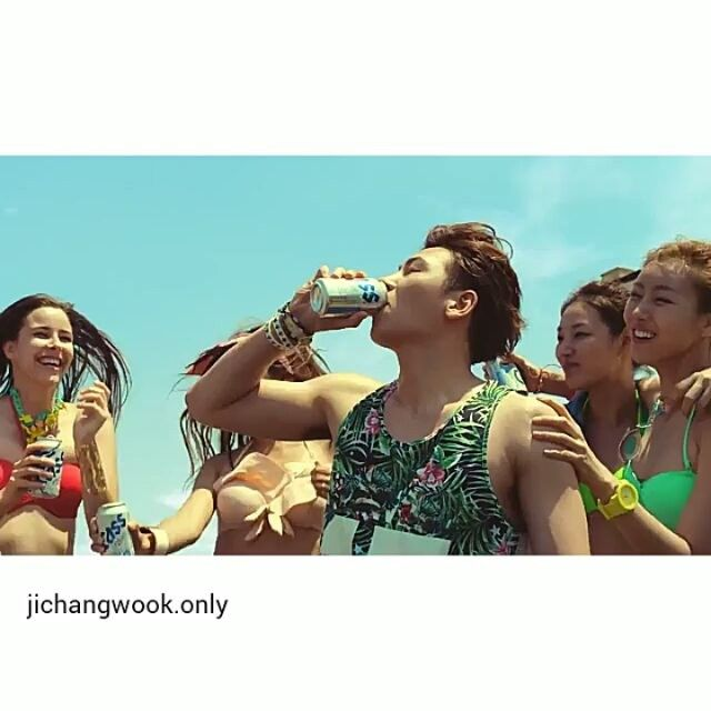 Ad for the beer Cass.  2014.  #jichangwook