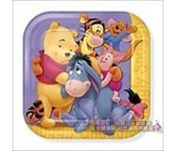 Winnie the Pooh \u0027Together Times\u0027 Large Sq. Paper Plates ...  sc 1 st  Pinterest & 51 best Winnie the Pooh Birthday Party Ideas Decorations and ...