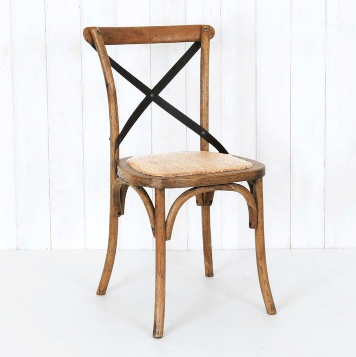 Villa Dark Oak Cafe Chair  - Our Villa Cafe chair evokes memories of dining in the quaint eateries of provincial France.