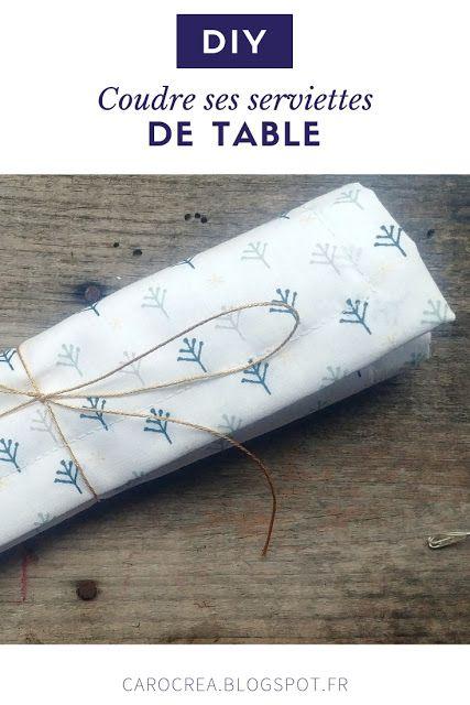 #Tuto : Des serviettes de table en tissus