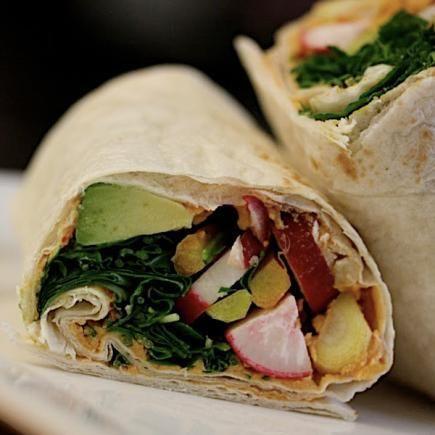 Sandwich Recipe: Crunchy Hummus Wrap
