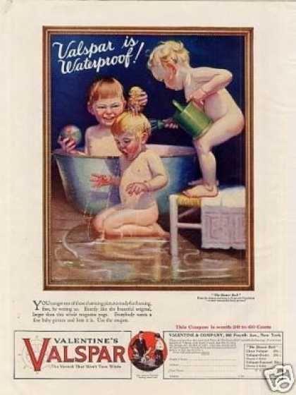 "Valentine's Valspar Varnish Ad ""The Shower Bath"" (1925)"
