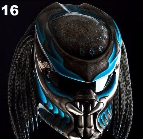 THE GREAT PREDATOR HELMET MOTORCYCLE STREET FIGHTER DOT APPROVED #CELLOS