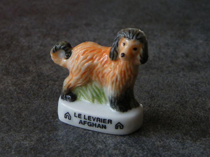 Fève de collection en céramique - Le chien levrier afghan : Cuisine créative par jl-bijoux-creation