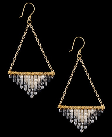 Nakamol Beaded Fringe Swing Earrings- I think this is a neat DIY project!