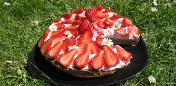 protein jordbærtærte