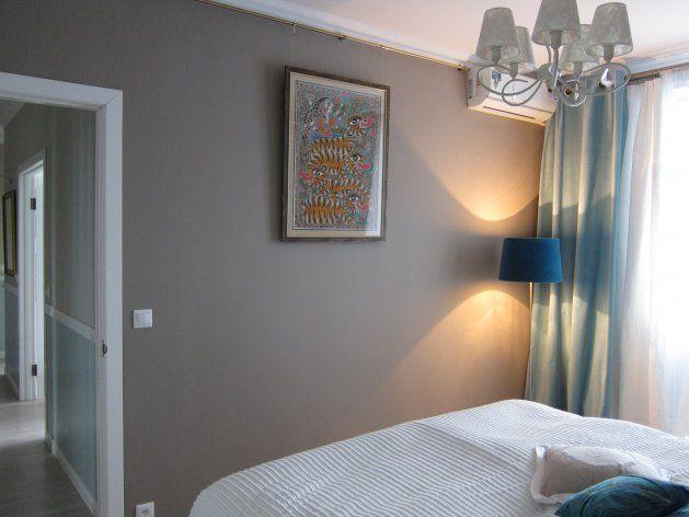 Квартиры от 45 до 90 метров, Мебель и предметы интерьера, Спальня, Декор,  классика,  Желтый, Серый, Светло-серый, Белый, Сине-зеленый, Бежевый,
