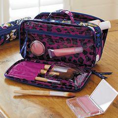 Vera Bradley brush & make up case, Clementine $42