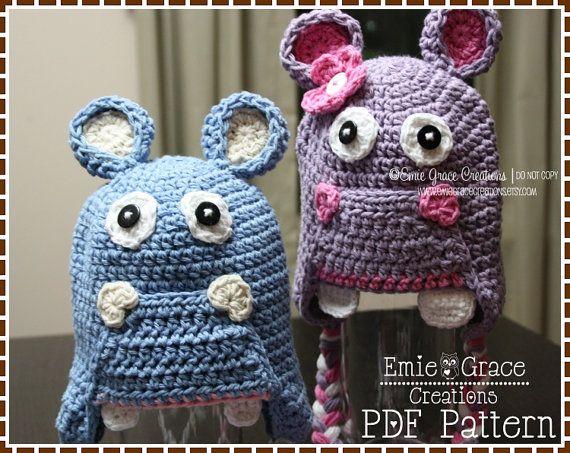 The 17 Best Hippo Hat Images On Pinterest Crochet Hats Crochet