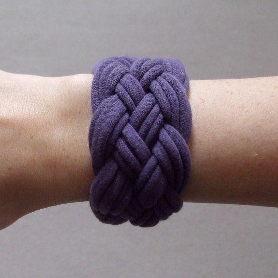 Fabric Bracelet  Purple Bracelet