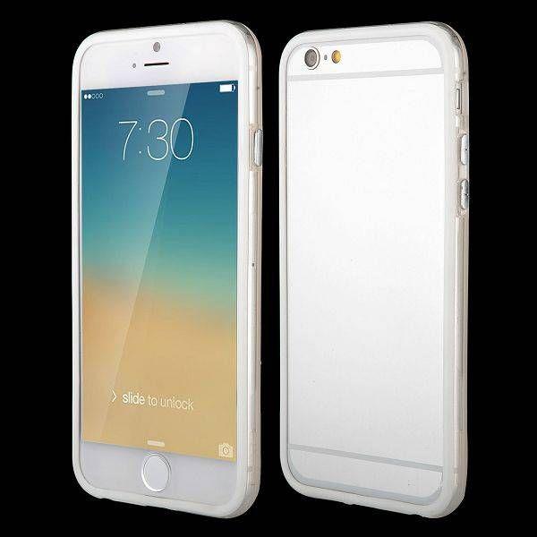 Wit / transparante bumper voor iPhone 6 Plus