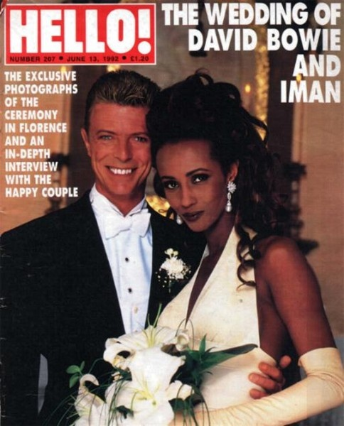 David Bowie And Iman  ...