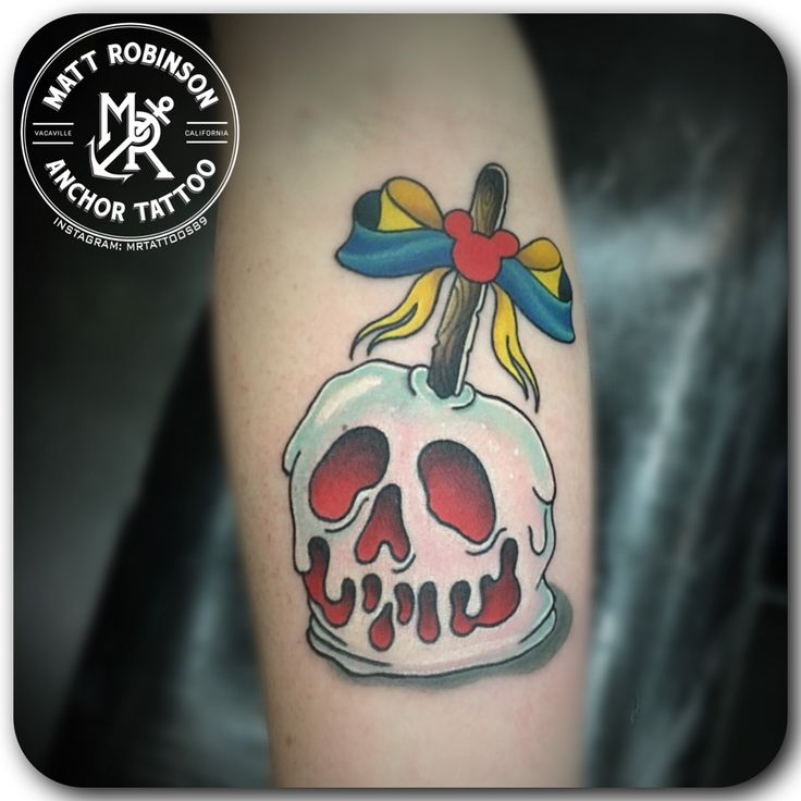 Disney Snow White Poison Candy Apple Tattoo By Matt Robinson Of
