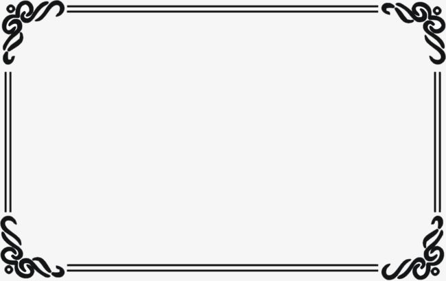 Creative Design Black Border Black Creative Frame Png And Vector With Transparent Background For Free Download Free Photo Frames Creative Design Photo Frame Images