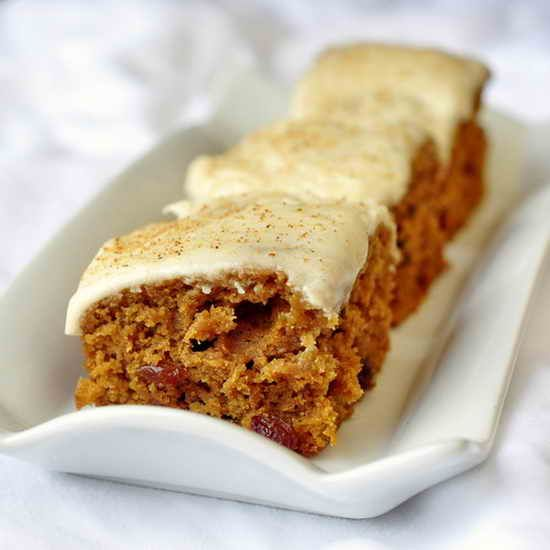 Ginger Raisin Cake Bars - delicious moist little raisin snack cake bars. Great for the lunchbox and freezes well too. Freeze individual portions for a lunchbox treats!