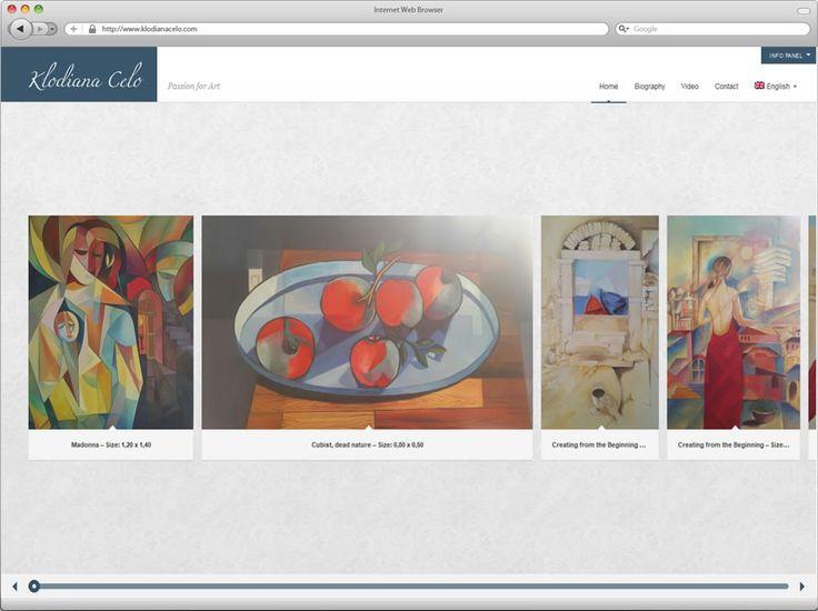 Δημιουργία ιστοσελίδας ζωγράφου