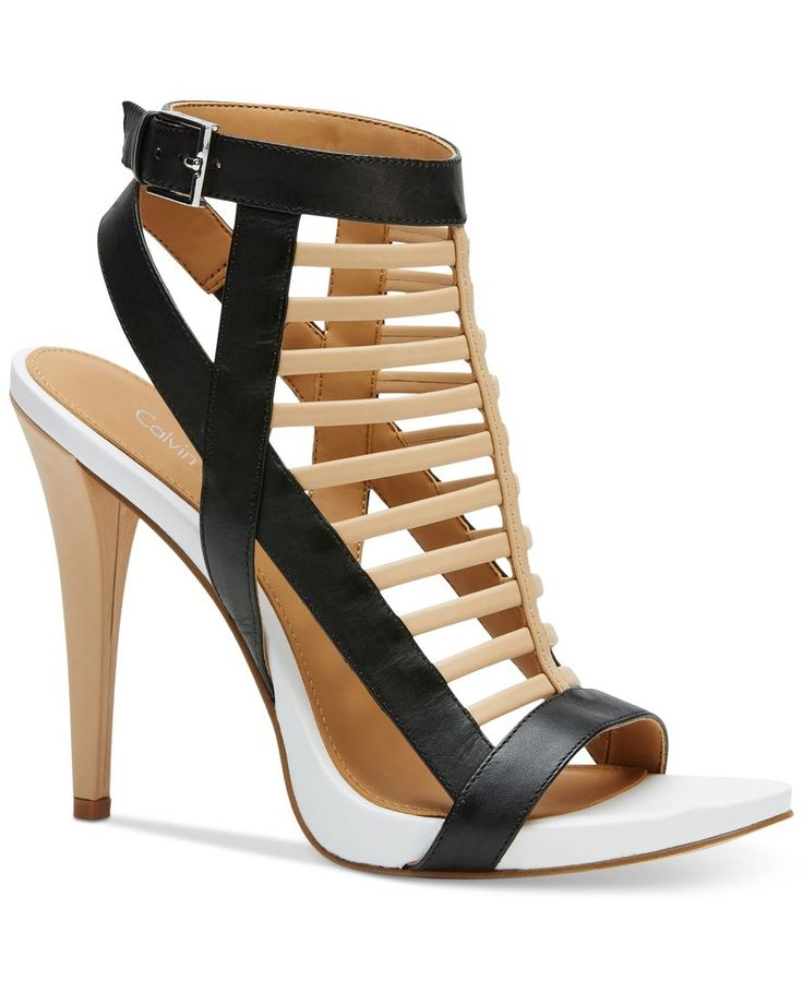 Calvin Klein Women's Nalo Caged Ankle-Strap Sandals