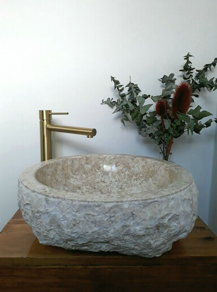 MARBLE Counter Top Vanity BASIN 40cm White and Grey MARBLE Rough HAND CRAFTED | eBay